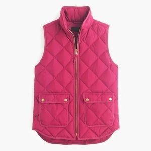 j.crew quilted vest for sale